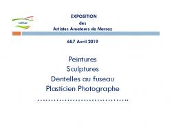 Exposition Artiste Amateur Marsaz – Avril 2019