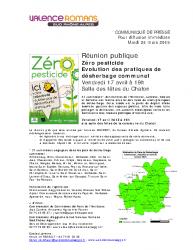 Zéro pesticide Réunion Publique – 2015